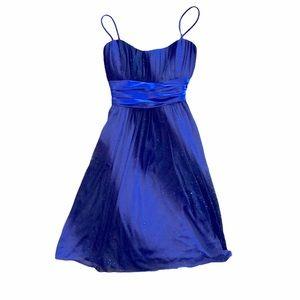 Blue & Black Sparkly Semi-Formal Dress Size Medium